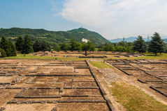 Antyczny rzymski miasto Libarna, w Podgórskim fotografia royalty free