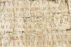 Antyczny rzymski pismo obraz royalty free