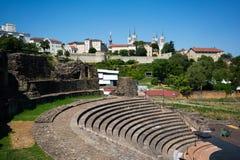 Antyczny rzymski theatre Fourviere w Lion France zdjęcie royalty free