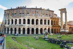 Antyczny rzymski Theatre Marcellus, Teatro Di Marcello w Rzym Włochy obrazy royalty free