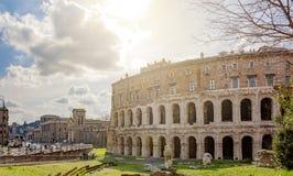 Antyczny rzymski Theatre Marcellus w Rzym Fotografia Stock