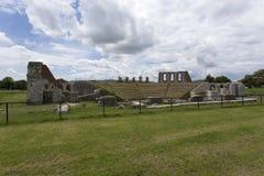 Antyczny rzymski theatre w Gubbio Zdjęcie Royalty Free