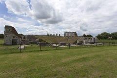 Antyczny rzymski theatre w Gubbio Obraz Stock