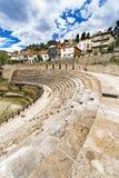 Antyczny rzymski theatre w macedonian grodzkim ohrid obraz royalty free
