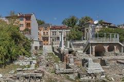 Antyczny stadium Philipopolis w Plovdiv, Bułgaria Zdjęcia Stock