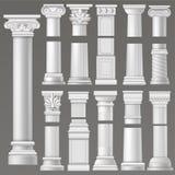 Antyczny szpaltowy wektorowy dziejowy antykwarski kolumny lub klasyka filar historyczna rzymskiej architektury ilustracja ancient Zdjęcie Royalty Free