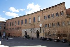 Antyczny szpital Santa Maria della Scala, Siena, Włochy zdjęcia stock