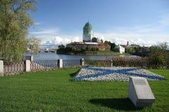 Antyczny szwedzki forteca w Vyborg Obrazy Stock
