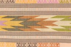 Antyczny Tajlandzki sztuki tkaniny farby wzór Fotografia Stock