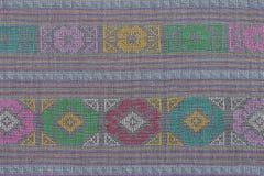 Antyczny Tajlandzki sztuki tkaniny farby wzór Zdjęcie Royalty Free