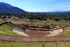 Antyczny teatr Messini, Grecja Zdjęcie Royalty Free