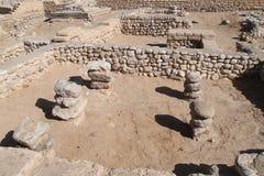 Antyczny Tel Piwny Sheva, Izrael zdjęcia royalty free
