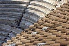 Antyczny theatre Herodes Atticus jest małym budynkiem używać dla jawnych występów muzyka i poezja antyczny Grecja, pod obrazy stock