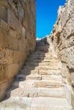 Antyczny theatre i ruiny, Kourion, Cypr obraz stock