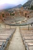 Antyczny theatre Taormina, Sicily, Włochy Obraz Stock