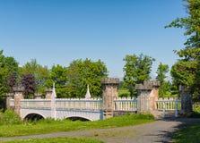 Antyczny turnieju mosta Eglinton park Irvine Szkocja Zdjęcie Stock