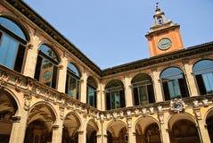 Antyczny uniwersytet Bologna - główny podwórze obrazy stock