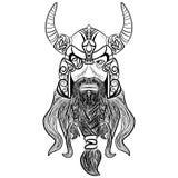 Antyczny Viking głowy logo dla maskotka projekta Zdjęcie Royalty Free