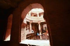 Antyczny w Ahmedabad Dobrze, India, 2016 Zdjęcie Stock