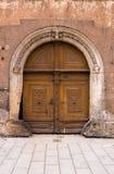 Antyczny wejściowy drzwi Zdjęcie Stock