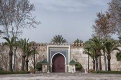Antyczny wejściowy drzwi przy Royal Palace w fezie Fotografia Stock