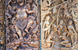 Antyczny woodcut Bali mitologia Fotografia Stock