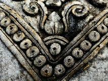 Antyczny wzór Textured kształta azjata kamienia cyzelowania tło Obrazy Stock