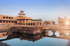 Antyczny zaniechany miasto Fatehpur Sikri, XVI wiek Agra, Uttar Pradesh, India Obraz Stock