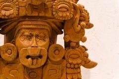 Antyczny Zapotec pogrzebowy łzawica w postaci bóstwa obraz stock