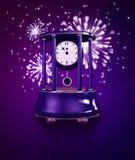 Antyczny zegar w nowy rok północy Zdjęcia Royalty Free