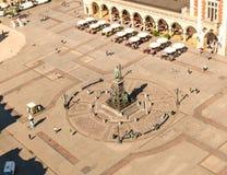 Antyczny zielonawy zabytek w Krakow, Polska, topview Obraz Stock