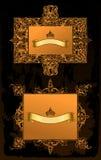 antycznych dekoracyjnych ram złocisty setu wektor Obrazy Stock