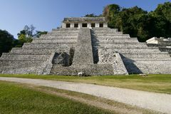 antycznych miasta inskrypcj majska Mexico świątynia zdjęcie stock