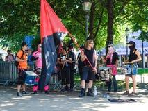Antyfaszystów protesty w Helsinki Zdjęcie Royalty Free