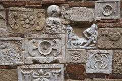 Antyk ściana z akwafortami zdjęcie royalty free