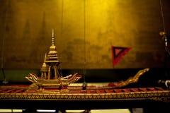 Antyk bitwy statek Tajlandia model, Muzealny Siam Fotografia Stock
