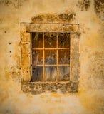 Antyk, dekoracyjny okno w Scicli, Sicily zdjęcie royalty free