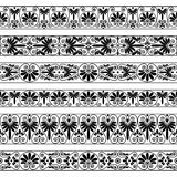 Antyk graniczy w czarnym kolorze na białym tle ilustracji
