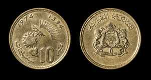 Antyk moneta kraj afrykański obraz stock