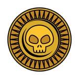Antyk moneta z czaszką ilustracji