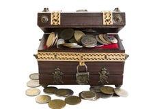 Antyk monety skarb Zdjęcia Stock