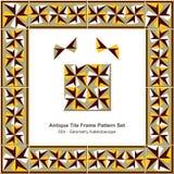 Antyk płytki ramy wzoru set_054 geometrii kalejdoskop ilustracji