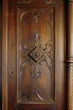antyk rzeźbiący drzwi drewniany Obrazy Royalty Free