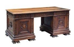 Antyk rzeźbiący mahoniowy writing biurko obrazy royalty free