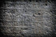 Antyka epigrafu Pełnoletnia ściana Obraz Royalty Free