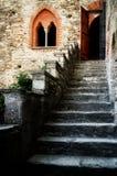 Antyka grodowy schody Obrazy Royalty Free