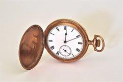 Antyka Kieszeniowego zegarka Różani Złociści Romańscy liczebniki Fotografia Royalty Free