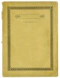 Antyka papier z dekoracyjną ramą i drzeć krawędziami fotografia stock