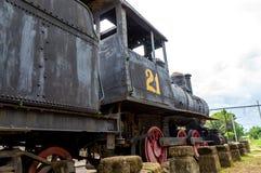 Antyka pociąg Przy Starym dworcem w Granada, Nikaragua Fotografia Stock