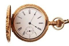 antyka zegarek odosobniony kieszeniowy Zdjęcie Stock